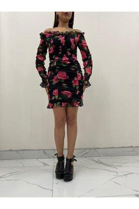 Çiçekli Elbise KNT808