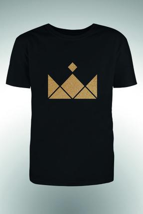 Altın Sarısı Tac 1 Baskılı T-shirt BYOKT150720350