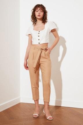TRENDYOLMİLLA Taş Petite Kuşaklı Pantolon TWOSS21PL0522 2