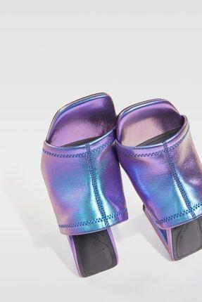 Bershka Yanardöner Metalik Topuklu Sandalet 4