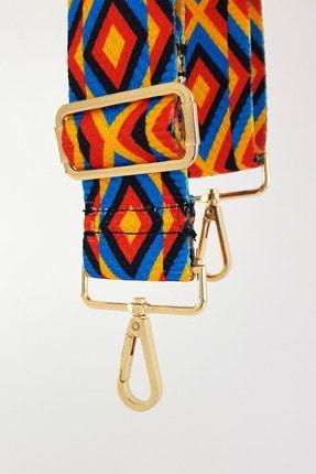 FAEN Asel Etnik Desenli Çanta Askısı Gold Metal 0