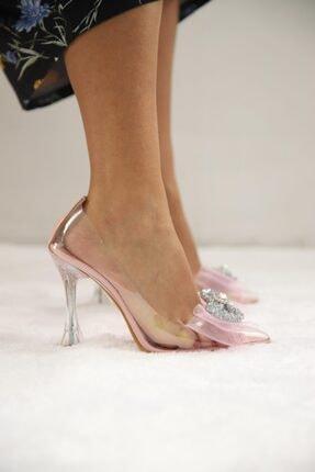 SHOEBELLAS She Pembe Kadın Topuklu Ayakkabı 1
