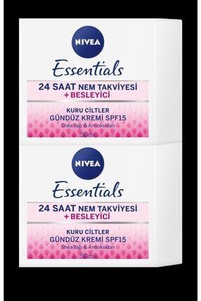 Nivea Essentıals Besleyici Gündüz Kremi Kuru Ciltler 50 ml 1+1 Set 0