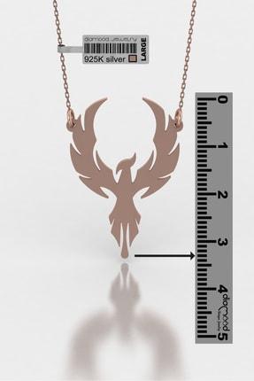 diamood jewelry Anka Kuşu Gümüş Kolye | Materyal Boyutunuzu S - M - L Den Birini Seçiniz 2