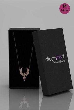 diamood jewelry Anka Kuşu Gümüş Kolye | Materyal Boyutunuzu S - M - L Den Birini Seçiniz 3