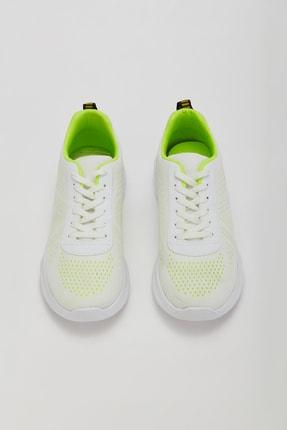 Muggo Unisex Beyaz Yeşil Sneakers Ayakkabı Svt17 2