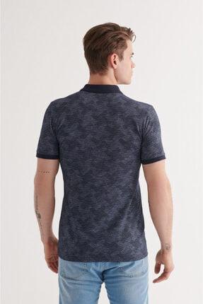 Avva Erkek Lacivert Polo Yaka Jakarlı T-shirt A11y1116 4