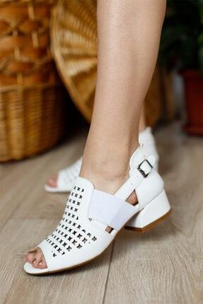PUNTO Kadın Kapalı Fındık Topuklu Ayakkabı 2
