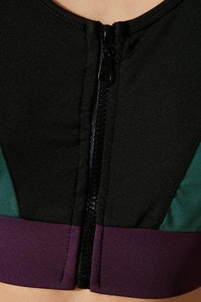 TRENDYOLMİLLA Siyah Destekli Renk Bloklu Spor Sütyeni TWOAW21SS0005 3