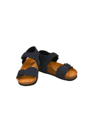 Moosefield Kids Hakiki Deri Lacivert Çocuk Sandalet 4