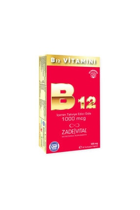 Zade Vital B12 Vitamini 30 Yumuşak Kapsül - Blister 0