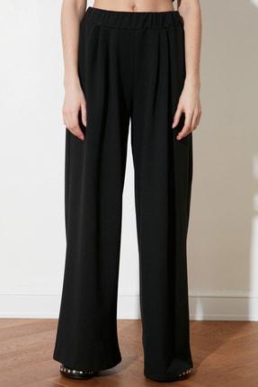 TRENDYOLMİLLA Siyah Flare Örme Pantolon TWOSS21PL0410 1