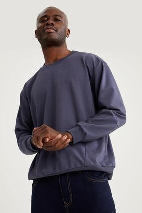 Defacto Oversize Fit Bisiklet Yaka Basic Sweatshirt 0
