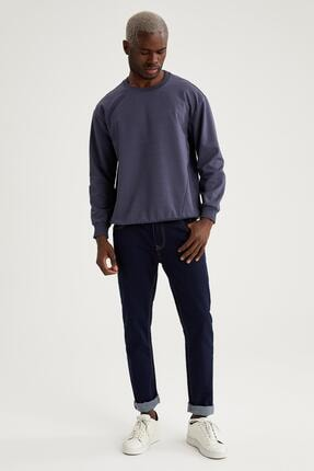 Defacto Oversize Fit Bisiklet Yaka Basic Sweatshirt 1