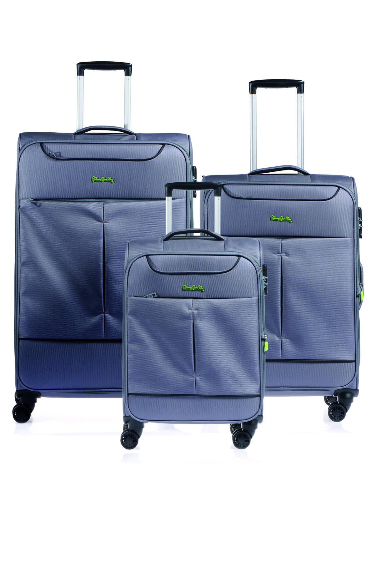 Pıerre Cardın 04pc4100-set Gri Gri Unısex 3 Lü Set Bavul