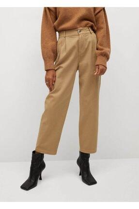Mango Kadın Kum Bej Pantolon 0