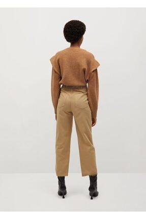 Mango Kadın Kum Bej Pantolon 3