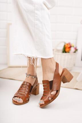 Diego Carlotti Kadın Kahverengi Hakiki Deri Topuklu Sandalet 2
