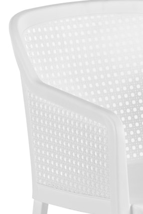 Tilia Beyaz Octa Puantiye Desenli Koltuk 4 Adet 4