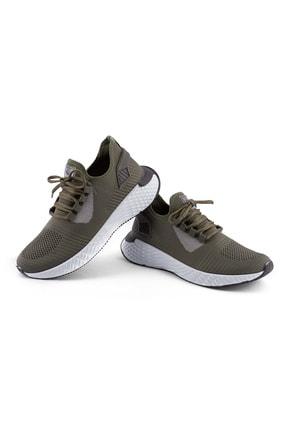 AKX 7 132 Haki Beyaz Hava Akışlı Erkek Spor Ayakkabı 2