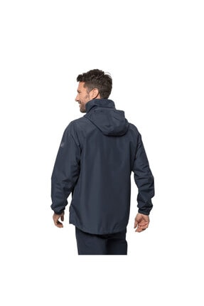 Jack Wolfskin Erkek Lacivert Stormy Point Jacket Outdoor Ceketi M 4