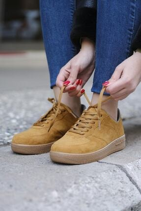 DARKLOW Unisex Hardal Süet Sneaker 1