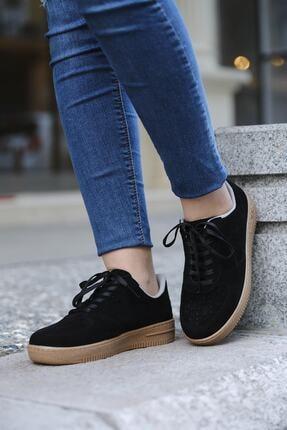 DARKLOW Unisex Siyah Süet Sneaker 0