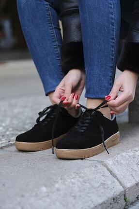 DARKLOW Unisex Siyah Süet Sneaker 1