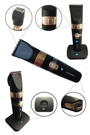 İŞTEBUKACMAZ Profesyonel Berber Şarjlı Standlı Kablosuz Seramik Bıçak Saç Ve Sakal Makinesi Pd4500 0