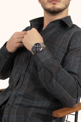 Etikmen Erkek Açık Siyah Yeşil Çizgili Kışlık Oduncu Gömlek 1
