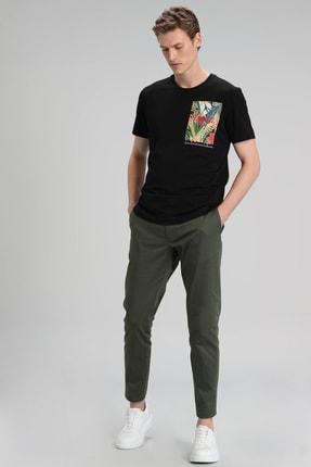Lufian Monato Modern Grafik T- Shirt Siyah 1