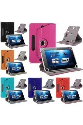 Alcatel 1t 7 7'' Kılıf Universal Tablet Kılıfı 360 Derece Dönerli Standlı Kapaklı 3