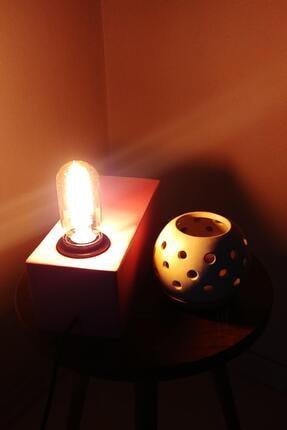Masa Lambası | Rustik Dekoratif Masa Lambası Pembe | Rustik Lamba LMB-0005-P