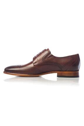 MARCOMEN Kahve Baskılı Hakiki Deri Bağcıklı Erkek Klasik Ayakkabı • A19eymcm0020 2
