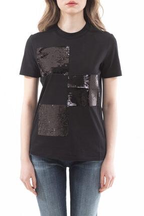 Emporio Armani Kadın Payet Detaylı Kısa Kollu T-shirt 0
