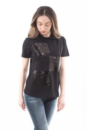 Emporio Armani Kadın Payet Detaylı Kısa Kollu T-shirt 1