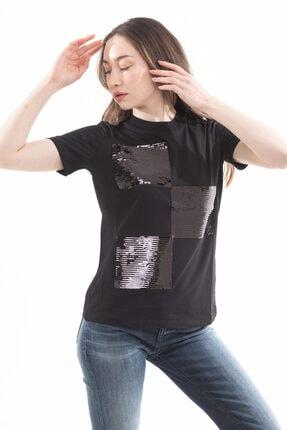 Emporio Armani Kadın Payet Detaylı Kısa Kollu T-shirt 4