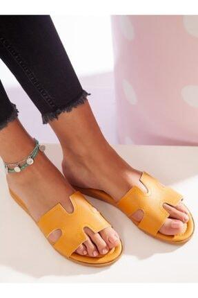 ayakkabıhavuzu Kadın Hardal Terlik 1