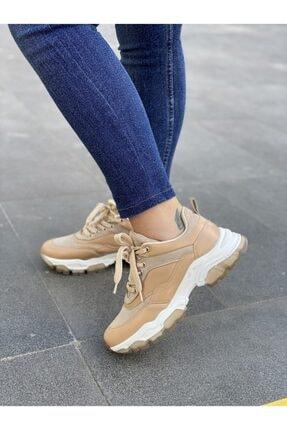 Les Shoes Kadın Bej Lucca Nude  Sneaker 0