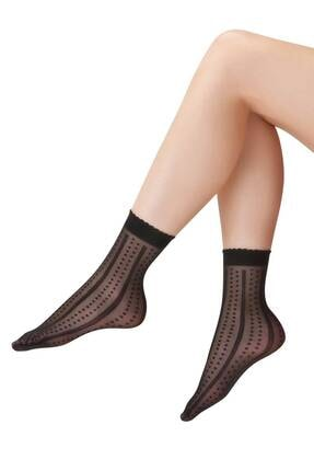 EMINNA Siyah Soket Çorap 0