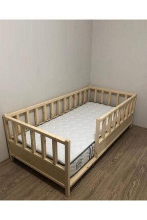 Baby Kinder Kahverengi Roofless Montessori Bebek ve Çocuk Karyolası 0