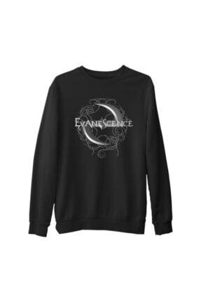 Lord T-Shirt Erkek Siyah Evanescence Logo Kalın Sweatshirt 0