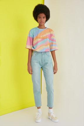TRENDYOLMİLLA Çok Renkli Loose Örme T-Shirt TWOSS21TS0910 1