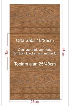 Ekip Dekor Portatif Ceviz Renkli  Yan Sehpa 2adet 25*48 cm 1