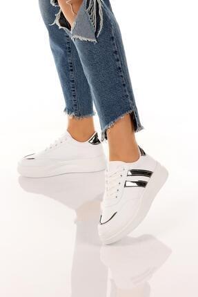 SOBY SHOES Kadın Günlük Rahat Ve Şık Bağcıklı Spor Ayakkabı Sneaker Soby11020031 3