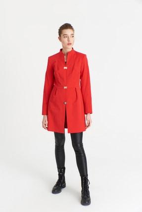 Kadın Kırmızı Trençkot 3142Kb