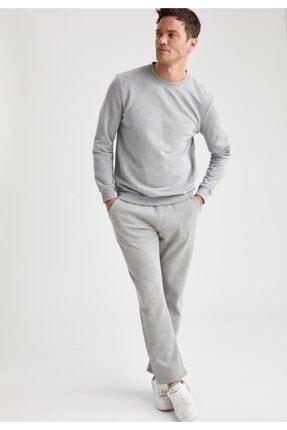 Defacto Erkek Grey Melange Bisiklet Yaka Regular Fit Sweatshirt R2619AZ20AU 1