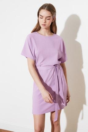 TRENDYOLMİLLA Lila Bağlama Detaylı Örme Elbise TWOSS21EL2015 1