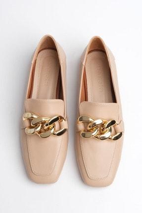 Marjin Kadın Bej Loafer Ayakkabı Modena 2