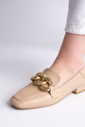 Marjin Kadın Bej Loafer Ayakkabı Modena 3